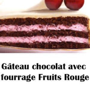 Gâteau chocolat avec fourrage Fruits Rouge
