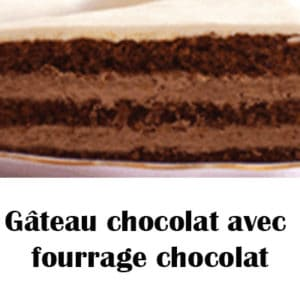 Gâteau chocolat avec fourrage chocolat