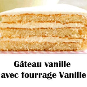Gâteau vanille avec fourrage Vanille