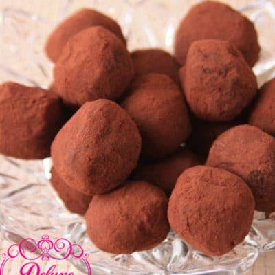 100 gr Truffes au chocolat noir