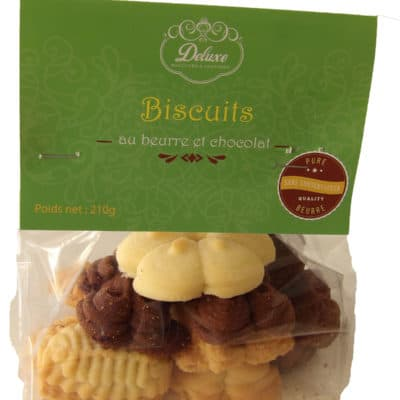 Biscuits au beurre et chocolat