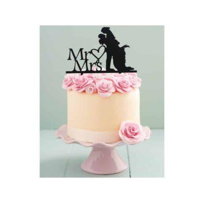 Cake Topper Mr & Mrs Bonheur