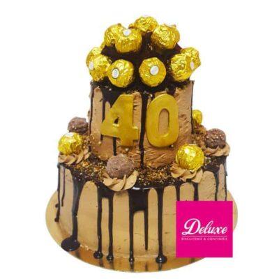 Pièce montée d'anniversaire Ferrero Rocher