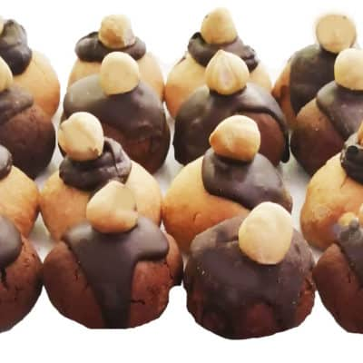 250 gr Biscuits à la noisettes et au chocolat
