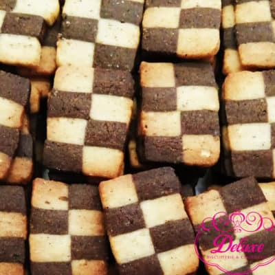 250 gr Biscuits-damier-chocolat amande noisette