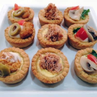 Assortiment de 30 Mini quiche 3 façons