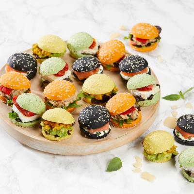 Assortiment de 30 Mini Burger,Deluxe