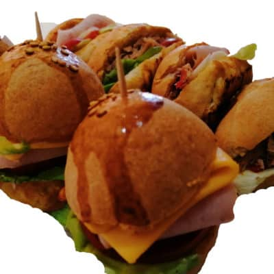 Assortiment de 30 Mini Burger & sandwichs
