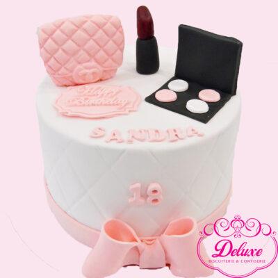 cake design theme maquillage