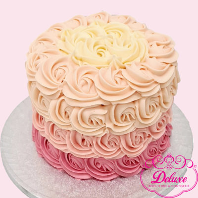 Cake design thème flower power