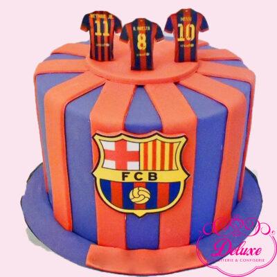 Cake design thème FC Barcelone
