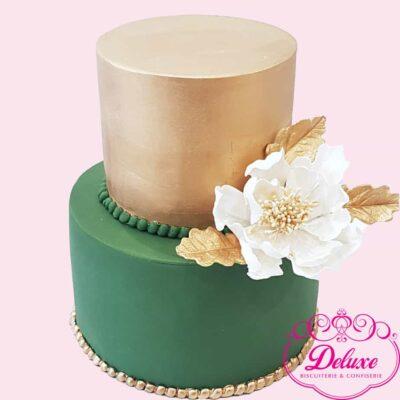 pièce montée wedding cake GREEN GOLD