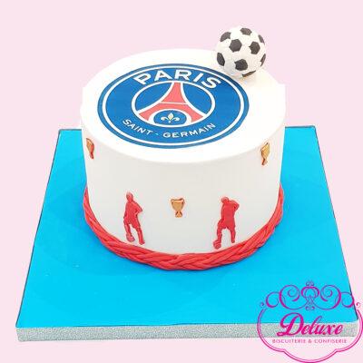 Cake design thème paris saint germain