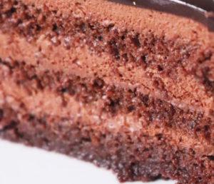 Gâteau chocolat avec crème chocolat
