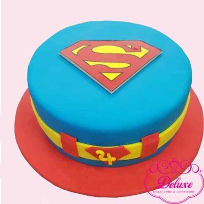 Gâteau d'anniversaire Supermen